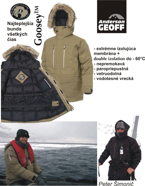 b12619367b6e Goosey bunda GEOFF Anderson (čierna) - Športové